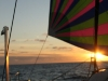 Sunset under the spinnaker