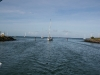 Narrow entrance to Rodney Bay Marina