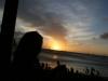 Sunset from the beach bar