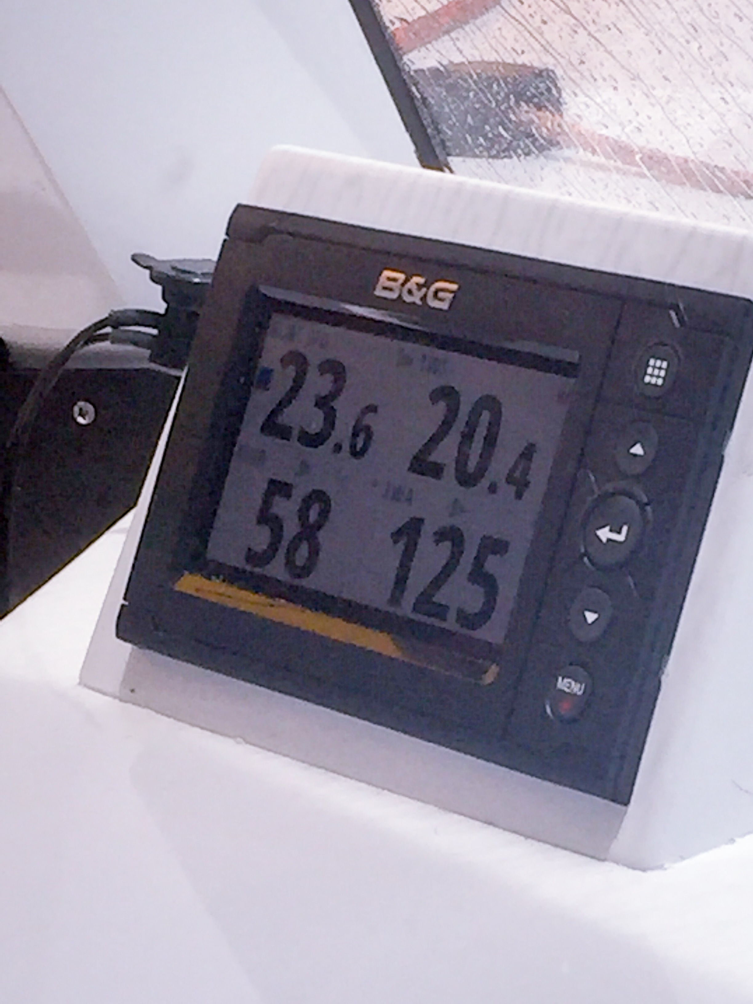 Only in a Gun Boat. Boat speed 23.6 in 20.4 knots of wind! Our top speed was over 24.