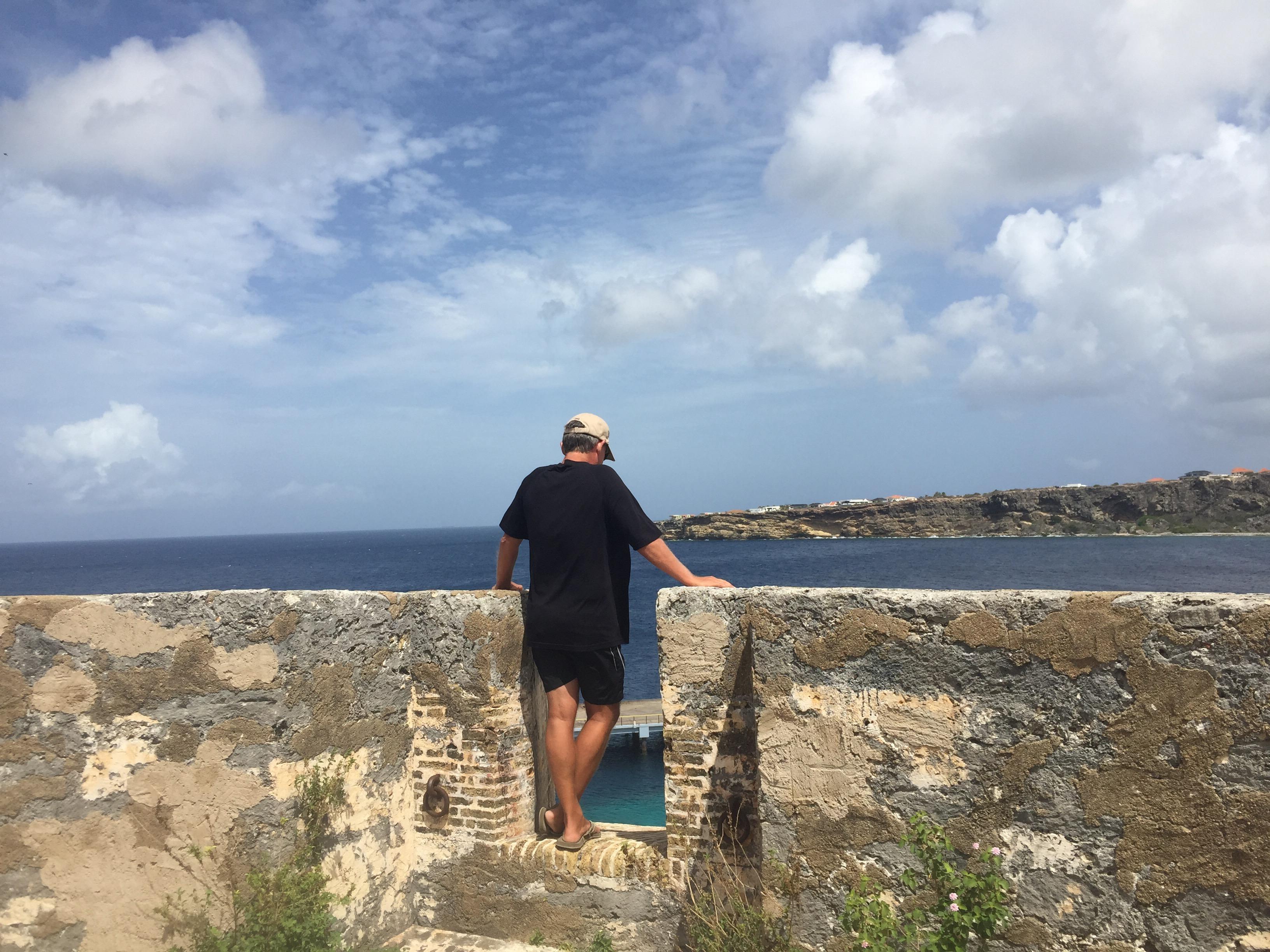 Wayne admiring the view