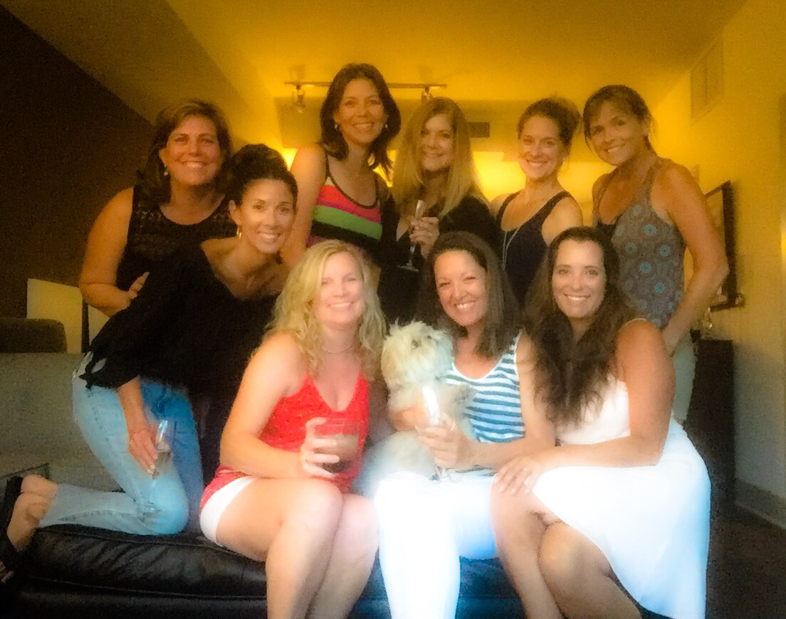 Barbara, Amy, Kim, Heather, Tiffany, Missy, Marcie, Heather, and I.