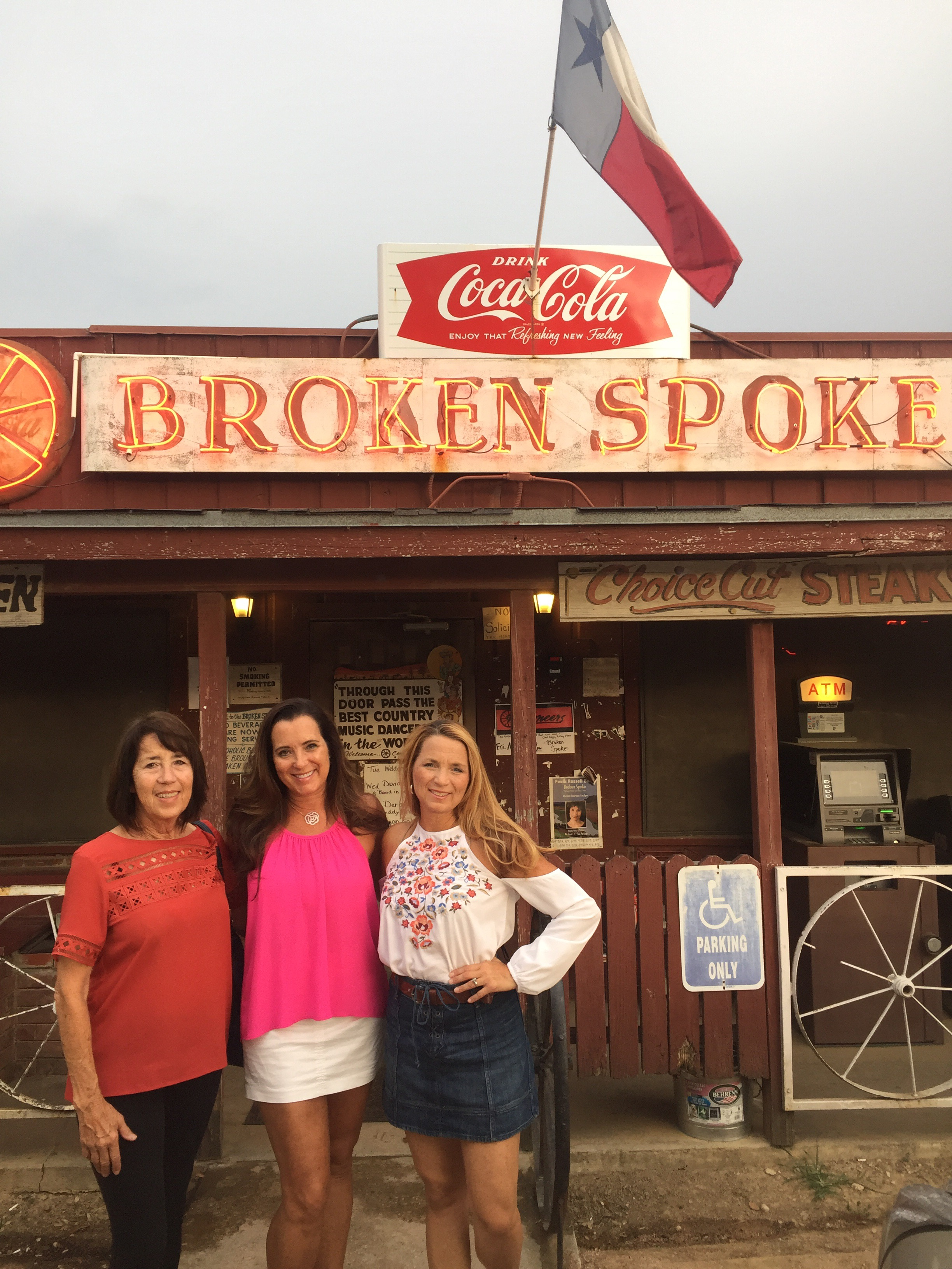 Donna, me, and Kimberly at the Broken Spoke