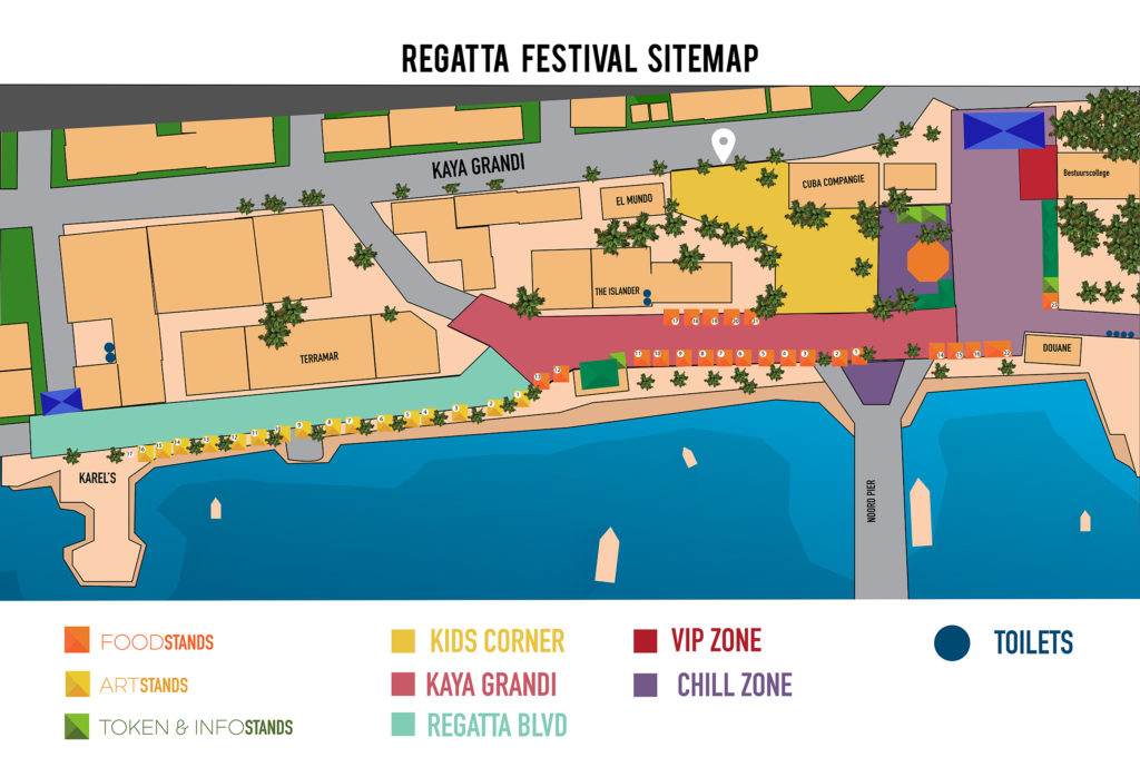 Event and Activity Map Bonaire Regatta