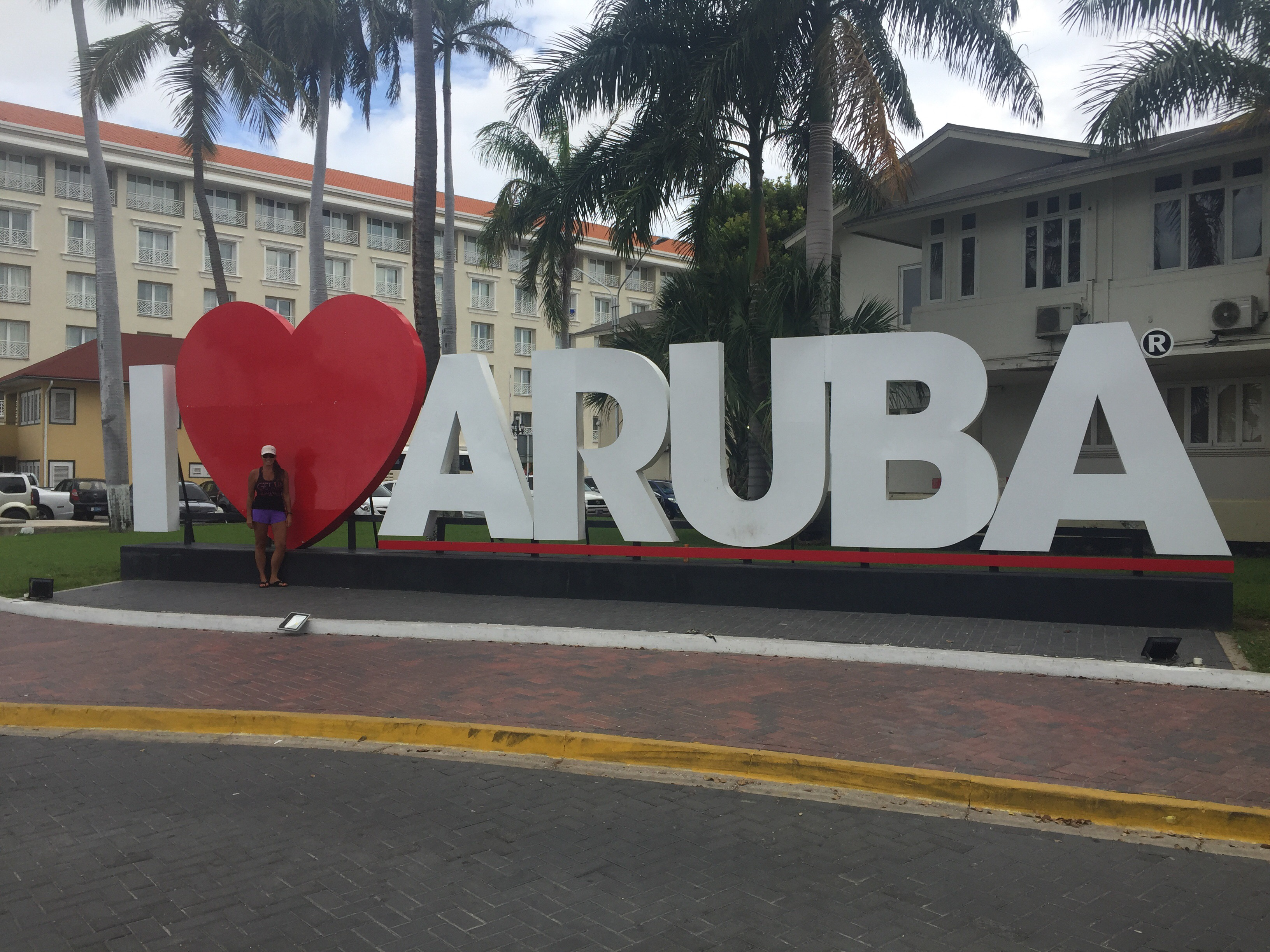 I Love Aruba signs all over the island.