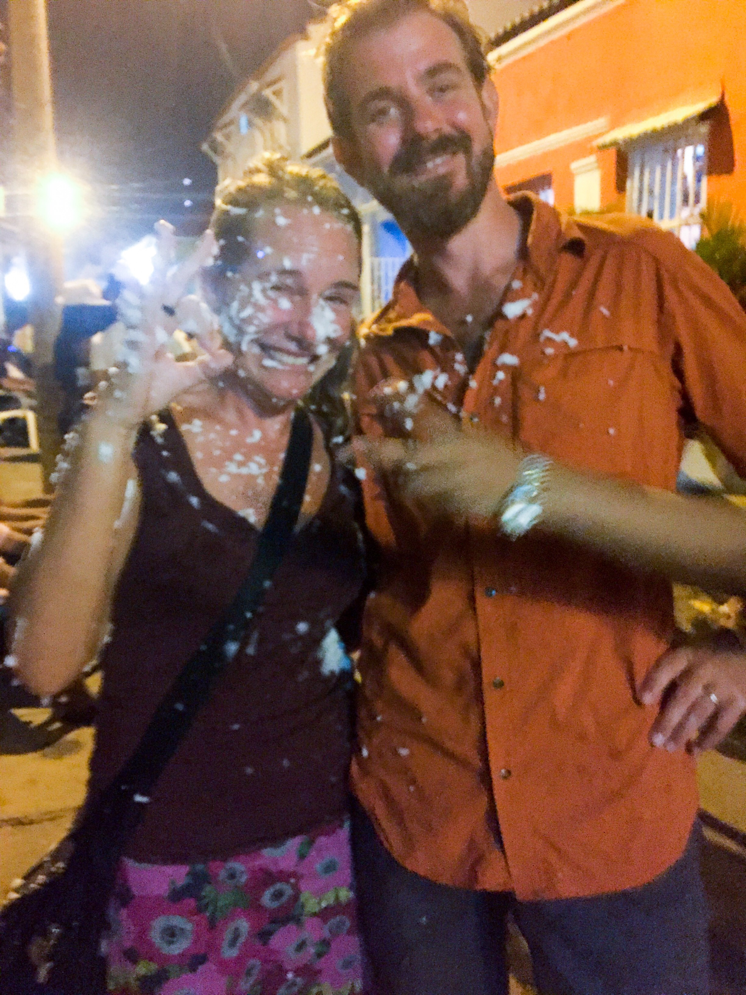 Mia and Jon have been foamed.