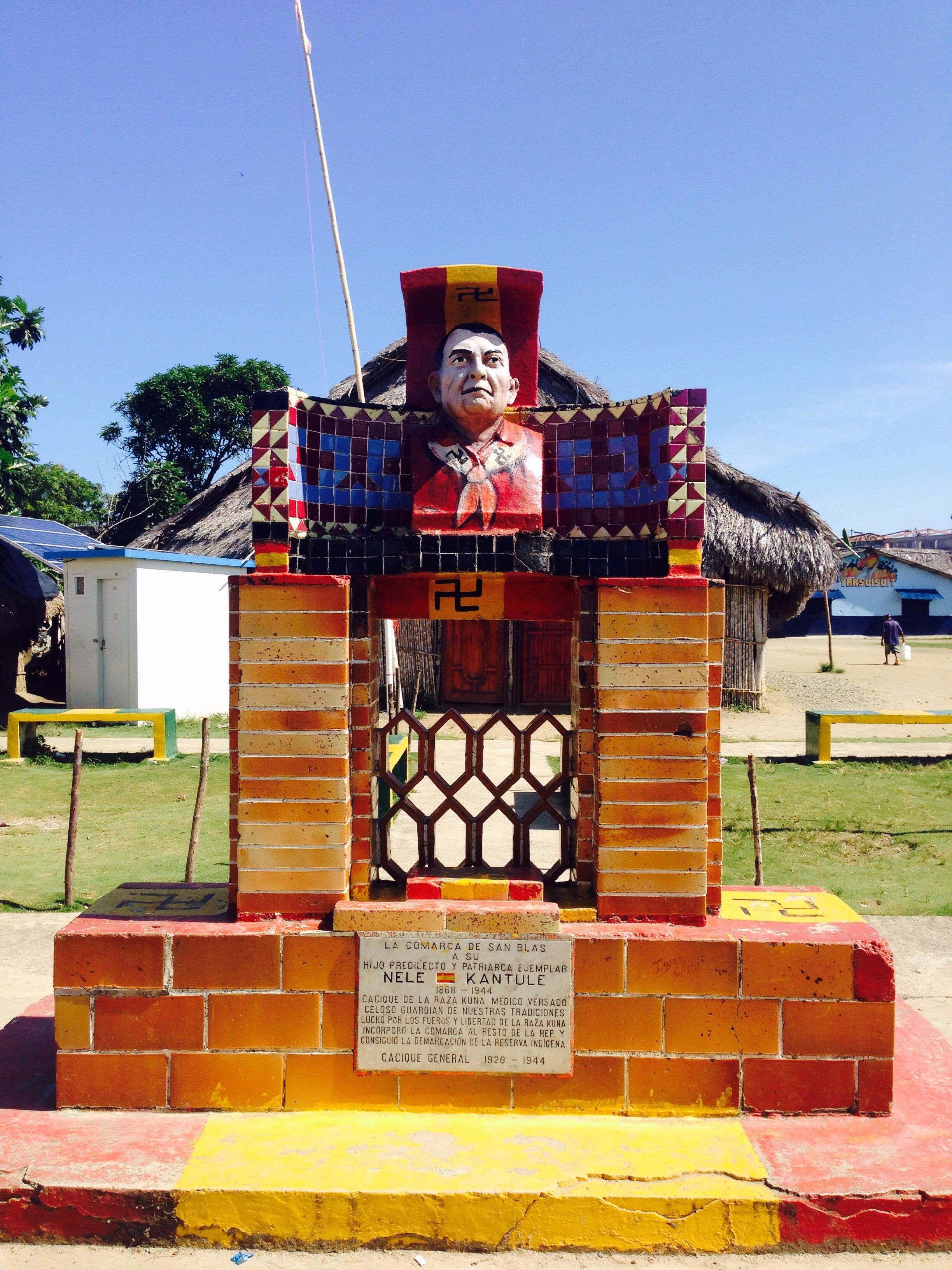 Nele Kantule monument on Ustupu