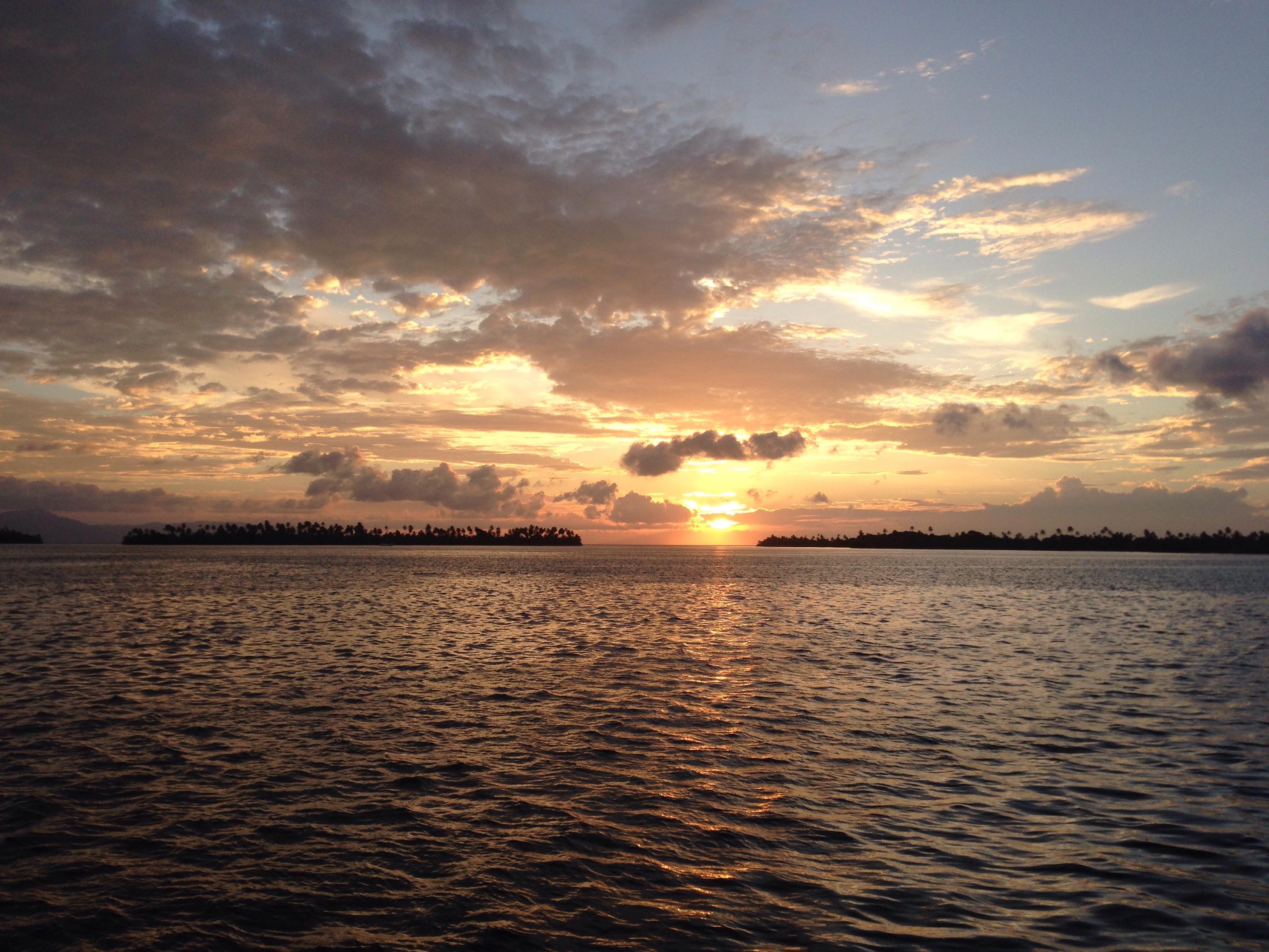 Sunrise in the San Blas Islands.