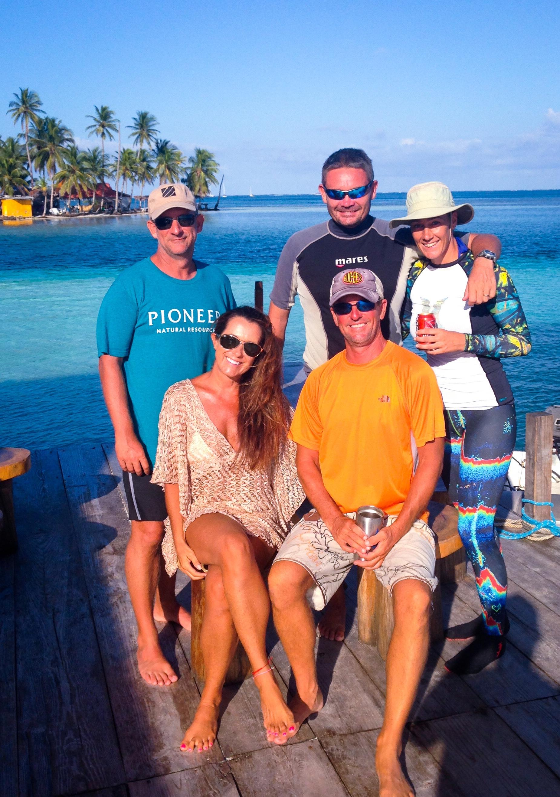 Wayne, Toby, Sam, Matt and I at Banedup, Eastern Lemon Cays.