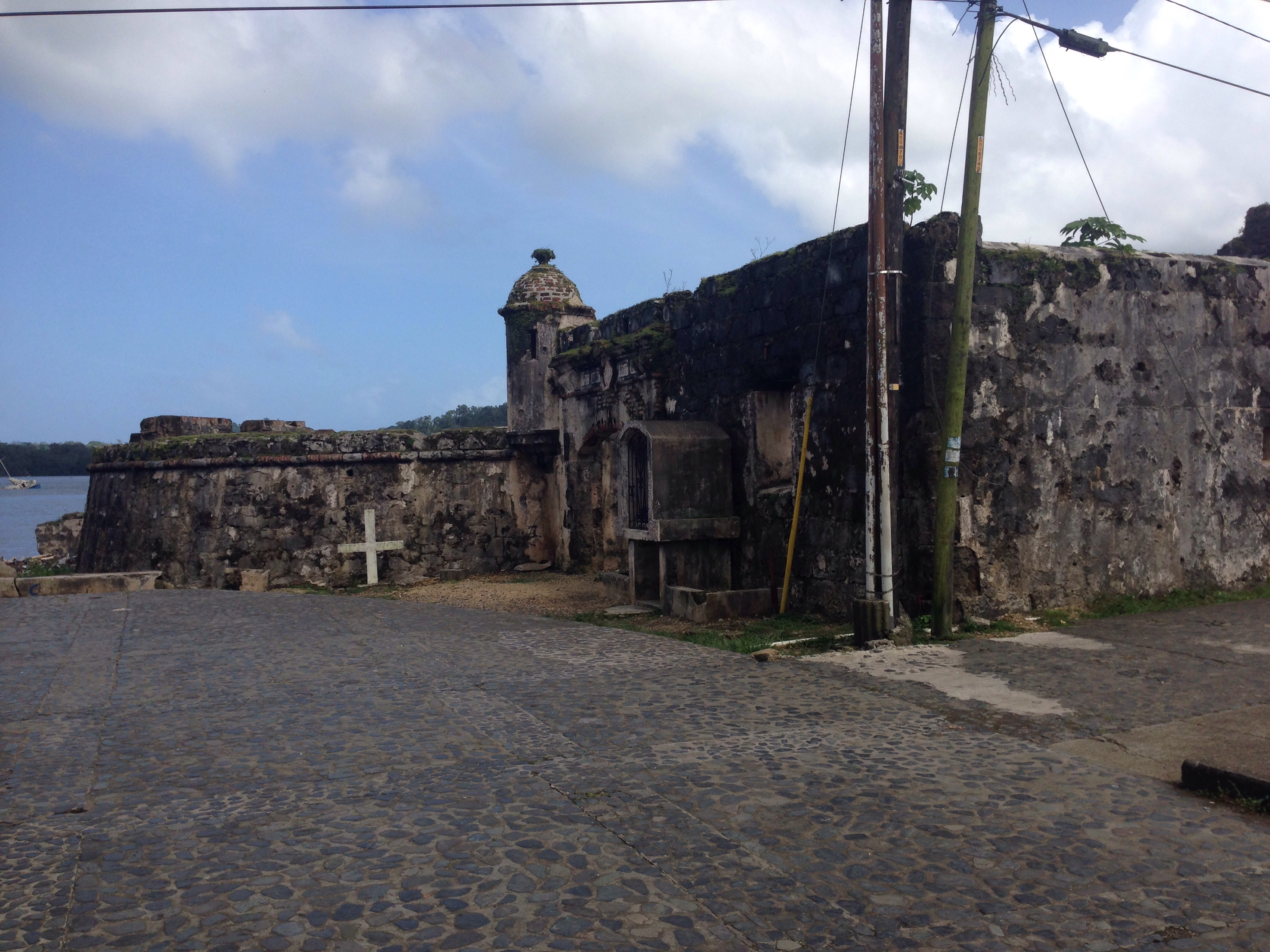 View of Fort San Lorenzo approaching from the street.