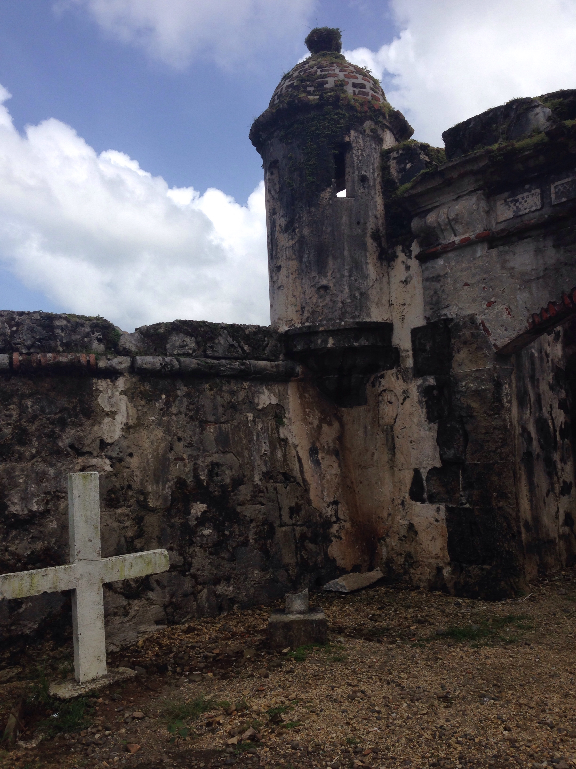 Fort San Lorenzo entrance with lovely cross.