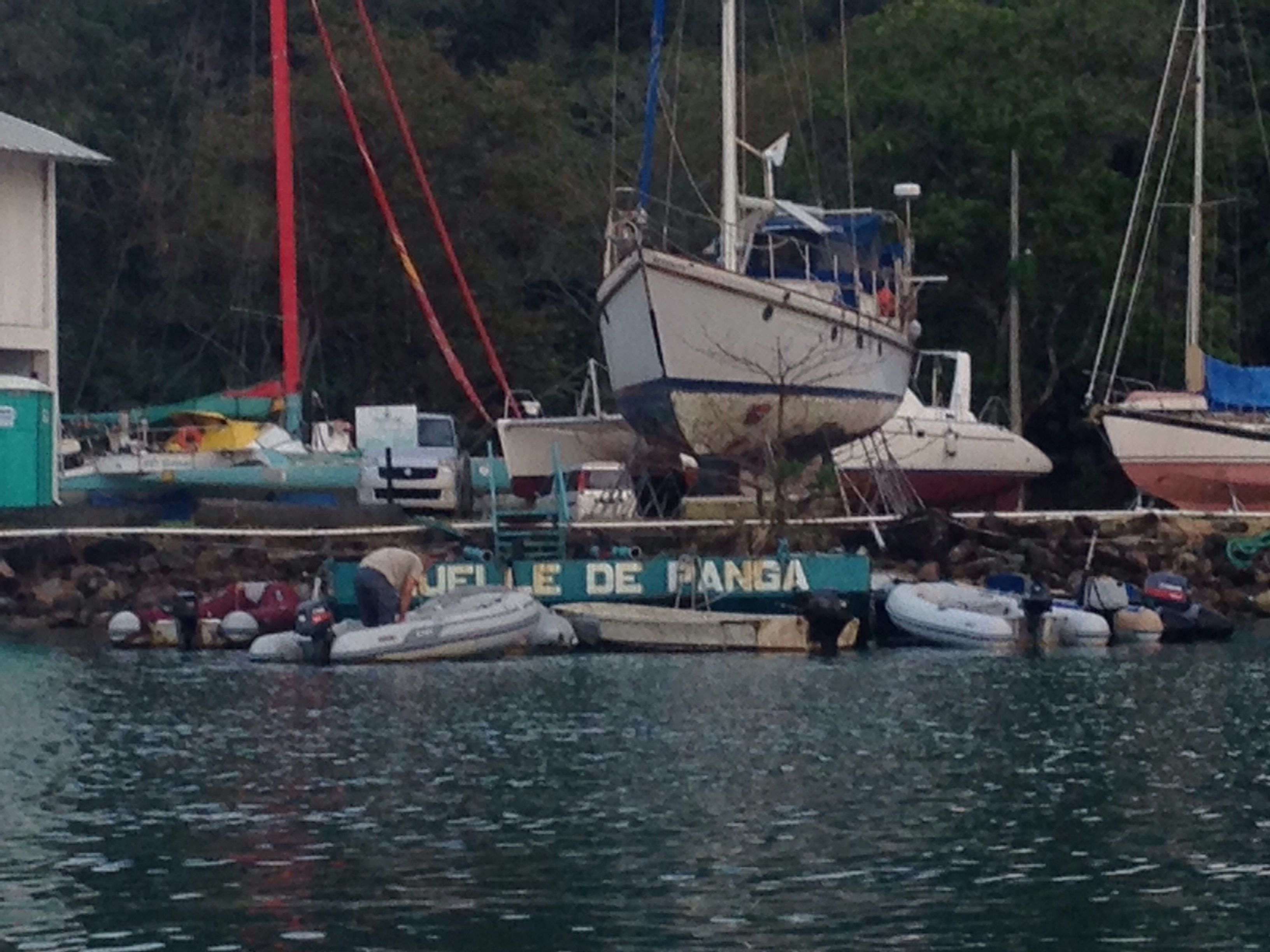Dinghy dock or panga dock.