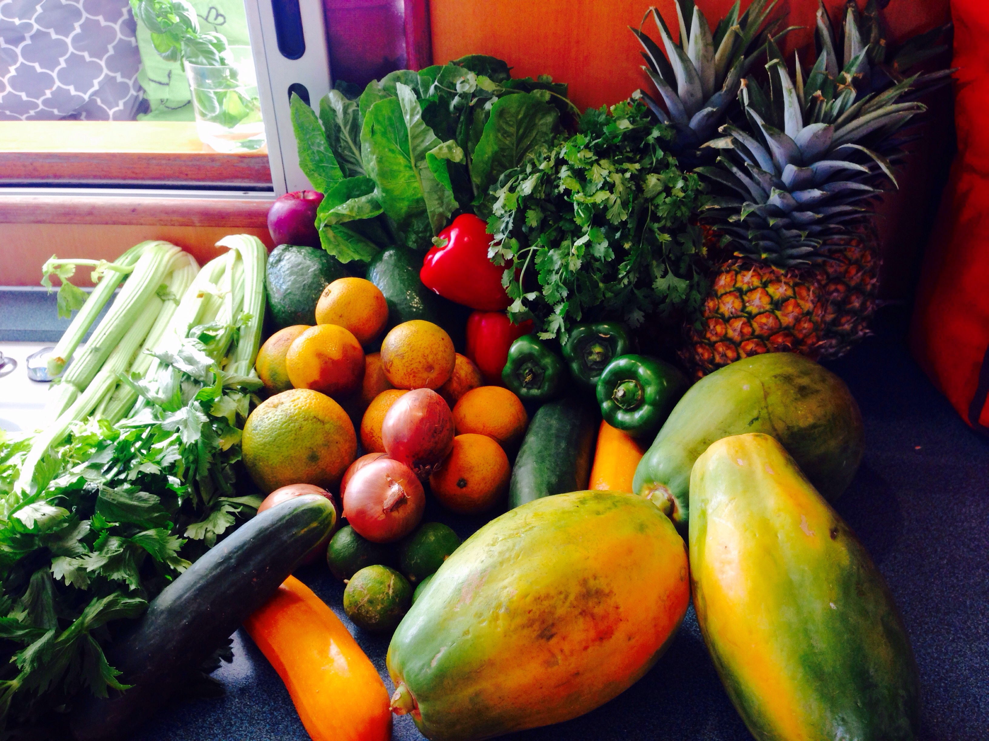 Fresh fruits and veggies from Colon, Panama