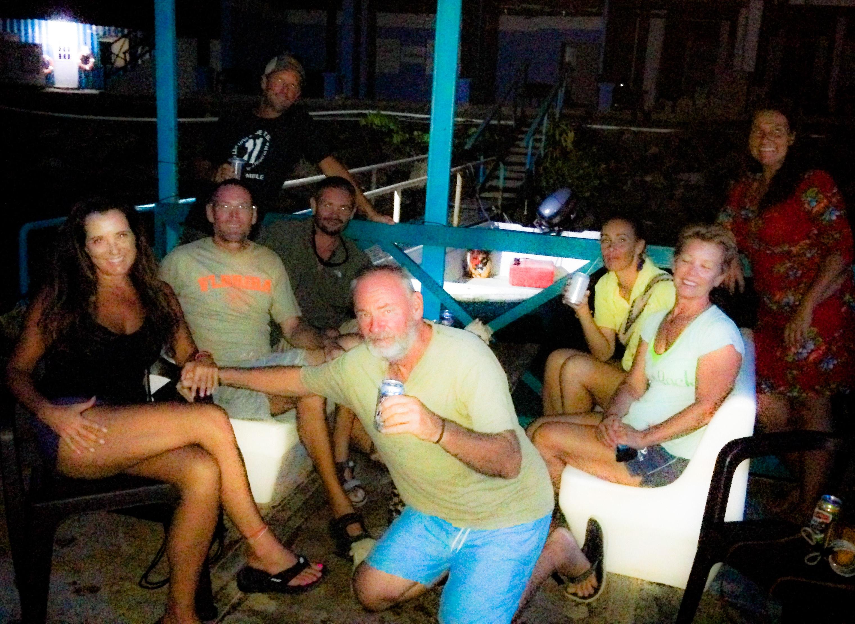 Happy hour in Linton Bay, Panama