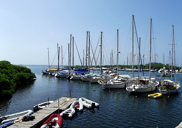 Panamarina mooring field.  Photo courtesy of Panamarina website.