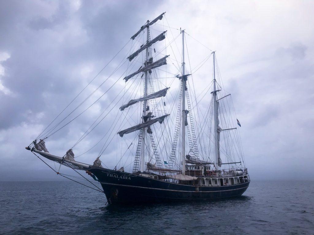 Thalassa massive ship with dozens of students.