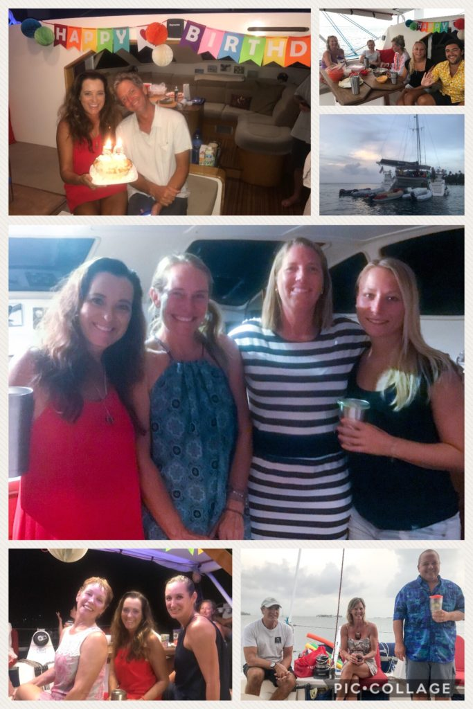 Birthday on the boat with cruiser friends.