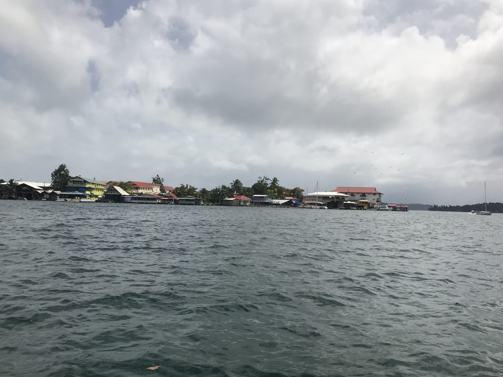 Bocas Town waterfront view.