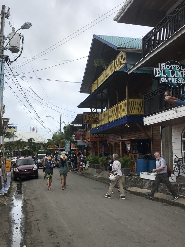 Typical road in Bocas Town.
