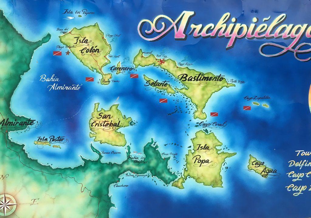 Map of Bocas del Toro.