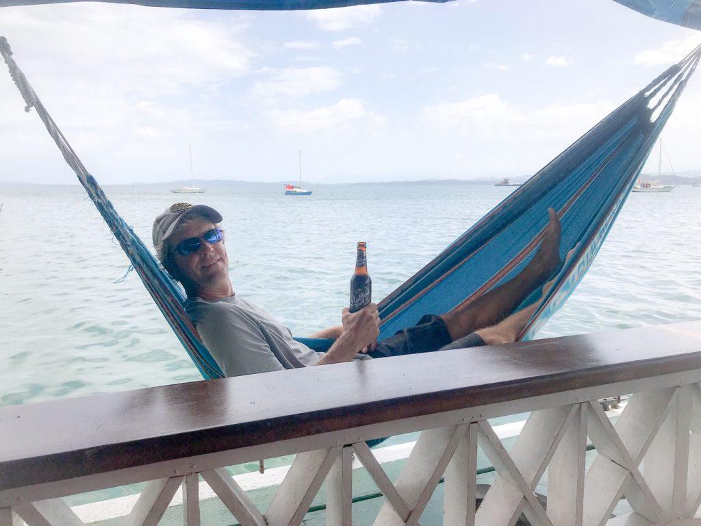 Matt's happy spot at Hotel Olas.