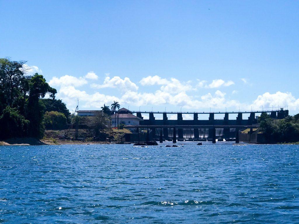 Gatun Dam from Rio Chagres
