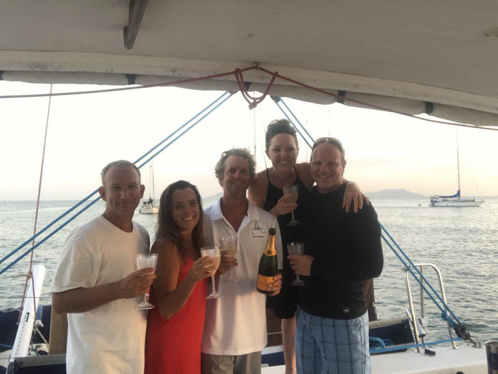 Sugar Shack Crew celebrating a successful voyage