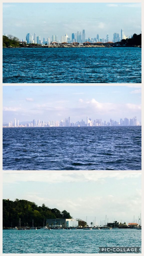 View of Panama City and La Playita on the bottom