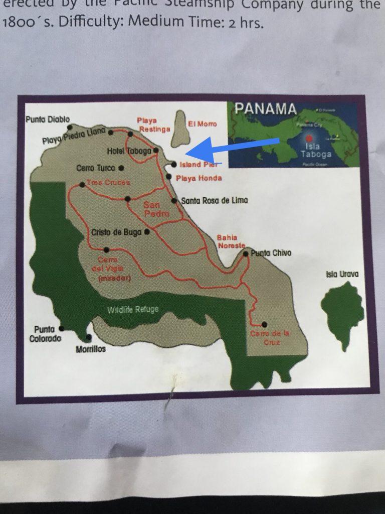 Map of Isla Taboga and El Morro