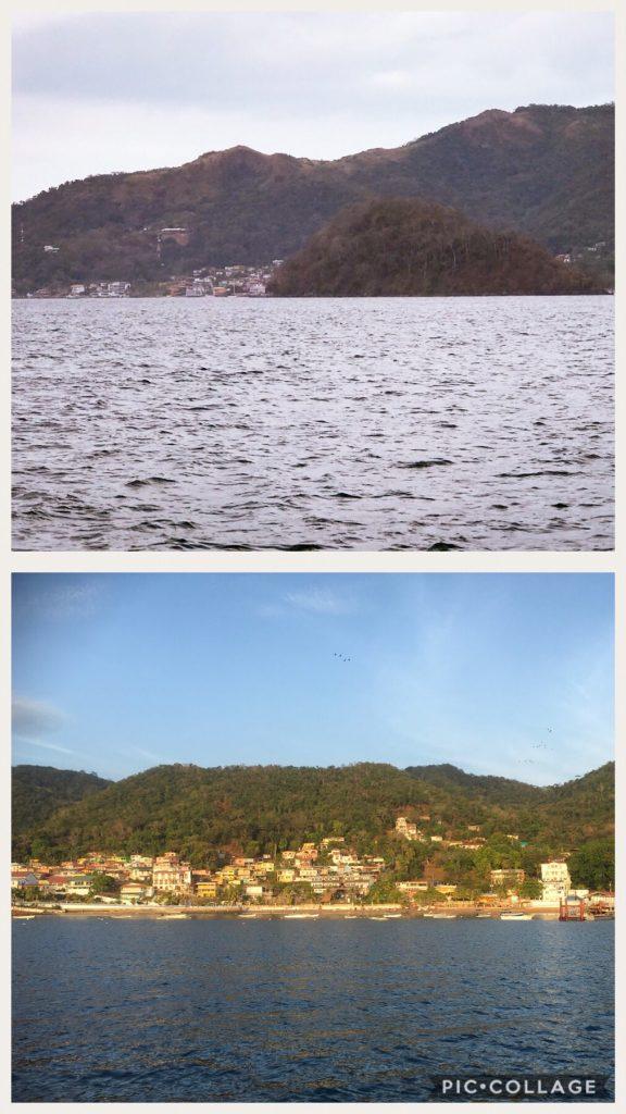 Isla Tabogo behind El Morro and below is the town at Isla Tabogo