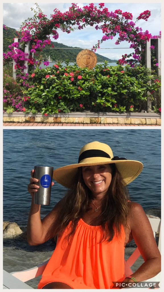 IGY Golfito Marina and Me Enjoying a cold drink in the water