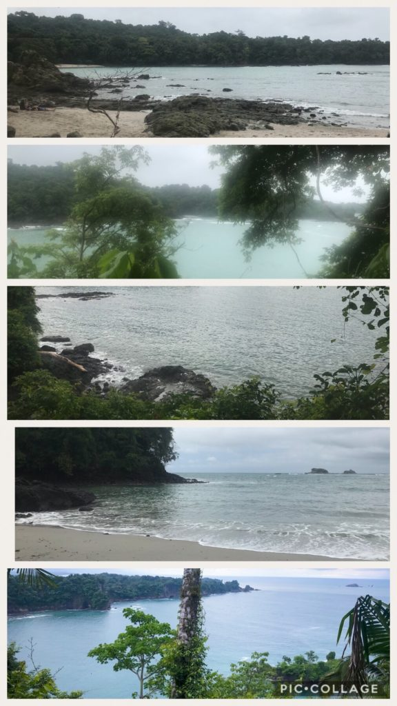 Beautiful sandy beaches at Manuel Antonio Park