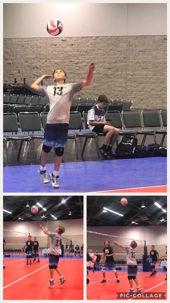 Cameron at Volleyball Tournament