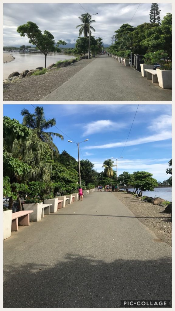 Strand along the coast in Quepos.