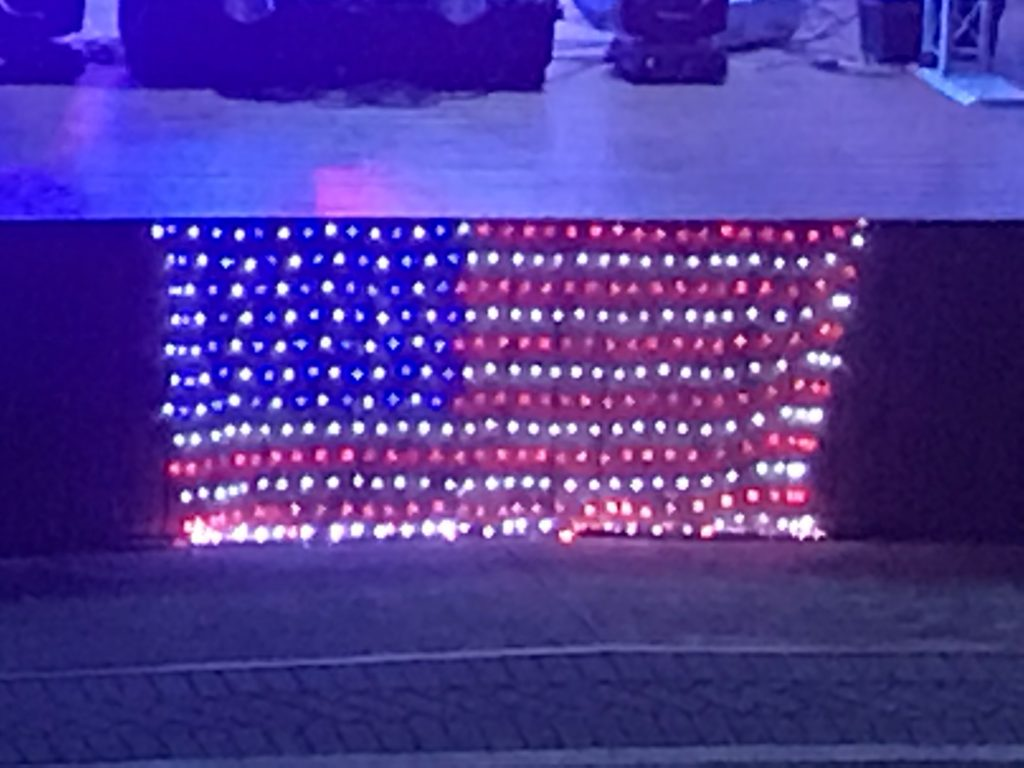 Lit up American Flag