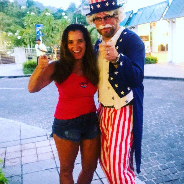 Uncle Sam at Quepos, Costa Rica