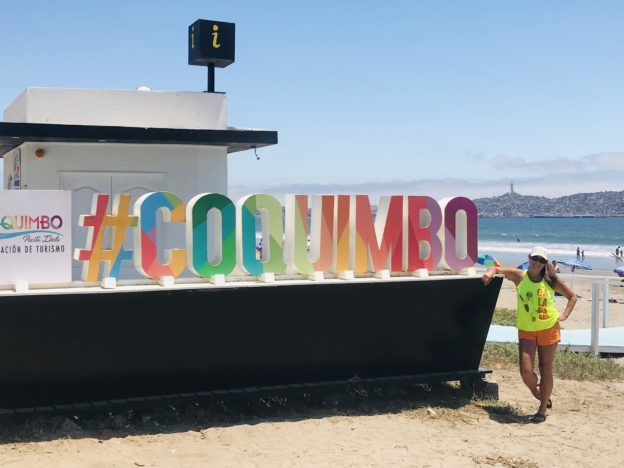 Coquimbo's Sign by the beach