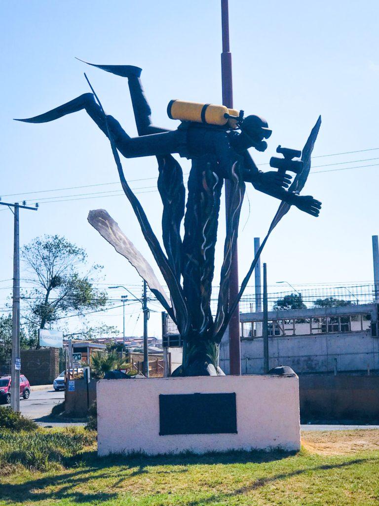 Scuba Statue in Quinter