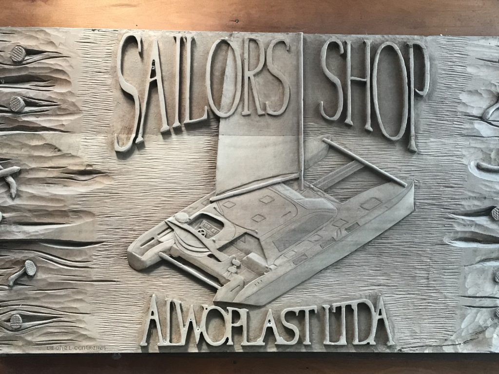 Alwoplast Wooden Carved sign