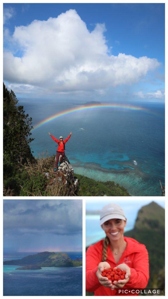 Rachel and her beautiful rainbow