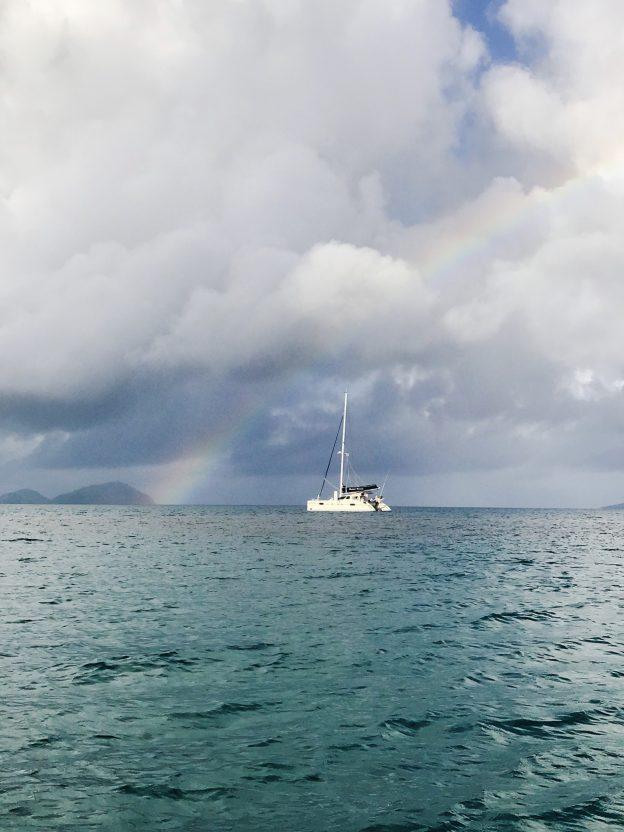 Sugar Shack anchored at Taravai