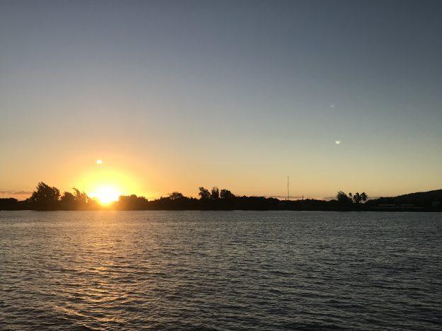 Sunset off Point Venus